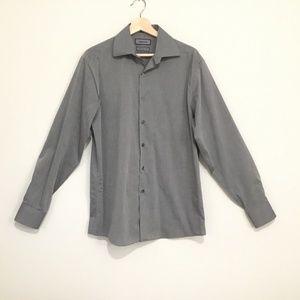Claiborne Modern Fit Shirt Gray Men Size M